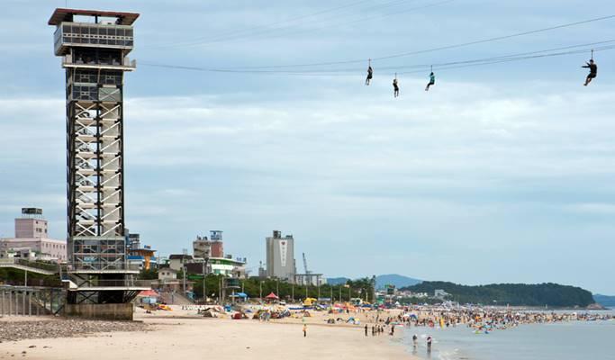 Summer Beach Fun: Boryeong Daecheon Beach + Zip Trek 1 Day Tour