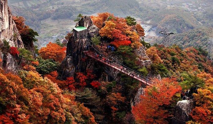 Image result for Daedunsan Mountain autumn