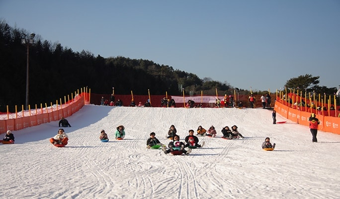 Afternoon + Night Ski/Snowboard Tour: Elysian Gangchon Ski Resort