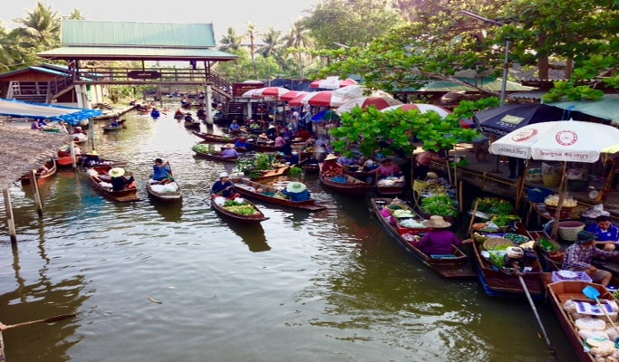 Floating Market & Fishing Village One Day Private Tour
