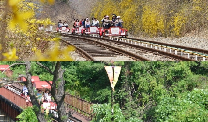 Seoul Vicinity: Nami Island + Gangchon Rail Bike + Petite France Day Tour