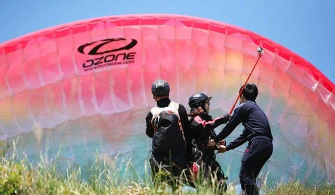 Tandem Paragliding in Jeju Island