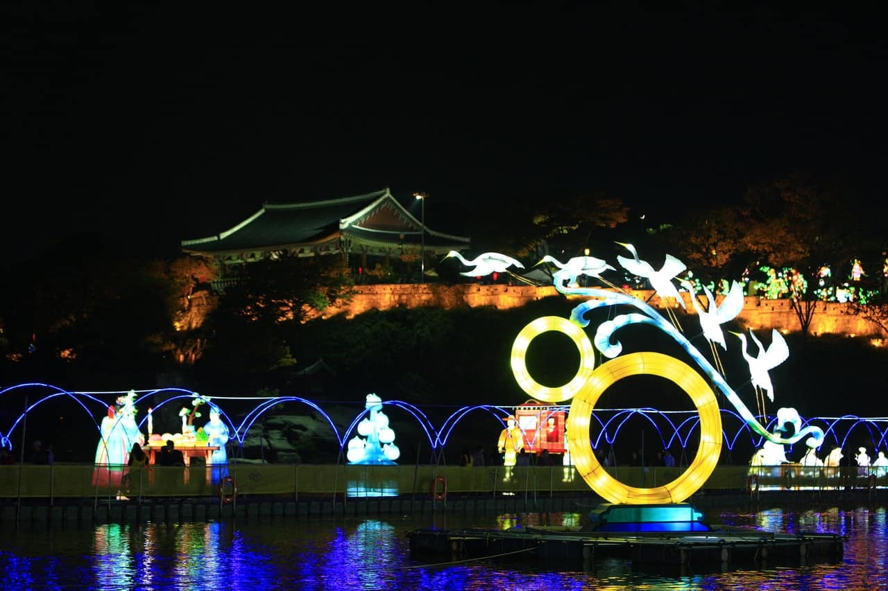 2017 Jinju Lantern Festival: Overnight Shuttle Bus + Admission Package (Oct 1~14)
