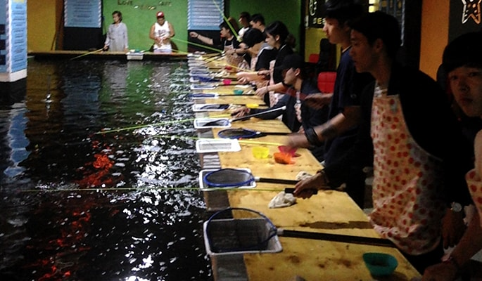 Indoor Fishing Cafe in Hongdae