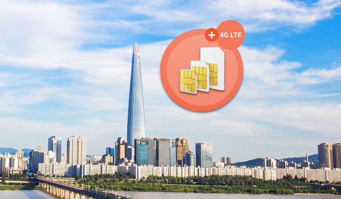 Prepaid 4G/LTE Sim Card: Unlimited Data+Voice call+SMS (5/7/10/15/30 days) - Pick up from Seoul/Busan