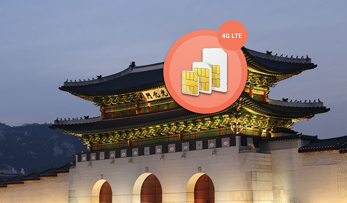 Korea Sim Card - Unlimited 4G/LTE Data Package