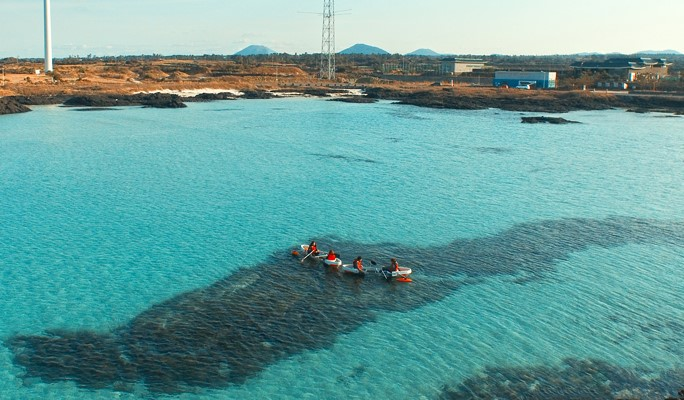 Transparent Kayaking on Jeju Island's Beautiful Emerald Ocean